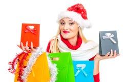 Santa Claus kvinna royaltyfria foton