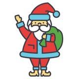 Santa Claus, la Navidad, concepto de las vacaciones de invierno Stock de ilustración