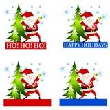 Santa Claus Labels or Logos Clip Art stock illustration