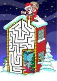Santa Claus - labyrinth for kids. Stock Photos