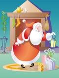 Santa Claus lampglas Arkivfoto