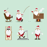 Santa Claus lampglassamling Royaltyfri Foto