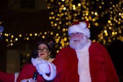 Santa Claus at the Lancaster City Tree Lighting Royalty Free Stock Photography