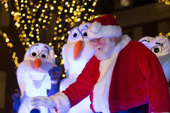 Santa Claus at Lancaster City Tree Lighting Stock Image