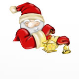 Santa Claus with lantern Stock Photography