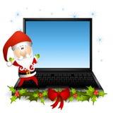 Santa Claus Laptop Computer 2 vector illustration