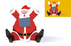 Santa Claus with Laptop Stock Images