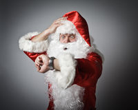 Santa Claus is late. stock photo