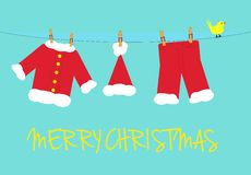 Santa claus laundry Royalty Free Stock Images