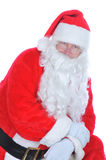 Santa Claus Leaning on one Leg Stock Photo