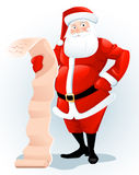 Santa Claus with letter Stock Photo