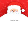 Santa Claus letter pad. A cute friendly Santa Claus note pad, can use as a greeting card Royalty Free Stock Photography