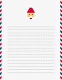 Santa Claus letter template Stock Photos