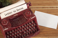 Santa Claus letter Stock Photography