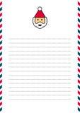 Santa Claus letterhead Stock Images