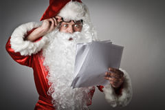Santa Claus and letters Royalty Free Stock Photos