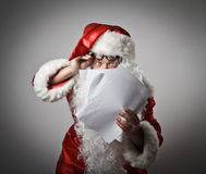 Santa Claus and letters Stock Photo