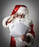 Santa Claus and letters Stock Image