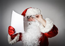 Santa Claus and letters Royalty Free Stock Photography