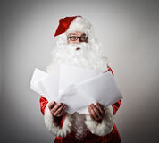 Santa Claus and letters Royalty Free Stock Image