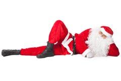 Santa Claus ligga arkivbild