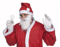 Santa Claus with a light bulb Stock Photography