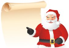 Santa Claus with list Royalty Free Stock Photo