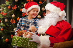 Santa Claus and a little boy Royalty Free Stock Photography