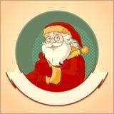 Santa Claus logo Stock Image