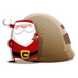 Santa Claus lokalisierte stock abbildung