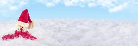 Santa Claus lokalisierte auf Schnee Lizenzfreie Stockfotos