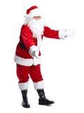 Santa Claus lokalisierte auf Weiß. lizenzfreie stockfotos