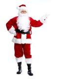 Santa Claus lokalisierte auf Weiß. stockfotografie