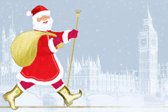 Santa Claus in London Royalty Free Stock Image