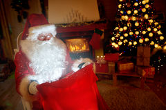 Free Santa Claus Look At Magical Sac Royalty Free Stock Photos - 82320168
