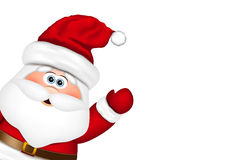Santa Claus look from the side Royalty Free Stock Photo