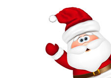 Santa Claus look from the side Royalty Free Stock Photos