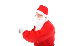 Santa claus look on watch Royalty Free Stock Images