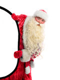 Santa Claus is looking Royalty Free Stock Images