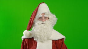 Santa Claus is Looking around stock video footage