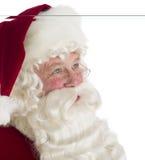 Santa Claus Looking Away pensativa Fotos de archivo