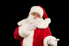 Santa Claus looking at camera Stock Photo