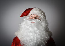 Santa Claus is looking up Stock Image