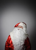 Santa Claus is looking up Royalty Free Stock Photo
