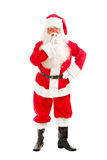 Santa - Claus looks Intently Through his Glasses Directly at the Royalty Free Stock Image