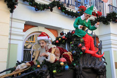 Santa Claus. Los Angeles, California, USA - October 10, 2014: Santa Claus Decoration for Halloween and Christmas Celebration at Universal Studios Hollywood Stock Photo