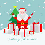Santa Claus with lots of presents Royalty Free Stock Photos
