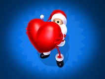 Santa Claus love Stock Images