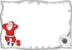 Santa Claus Lying royalty-vrije illustratie
