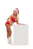 Santa Claus-Mädchen stockbild
